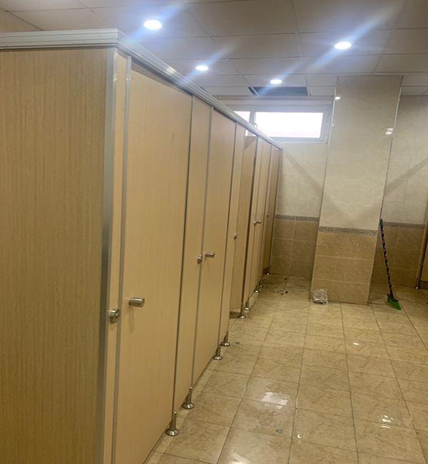 công trình vách ngăn vệ sinh tại nhà máy asea daeryun vina